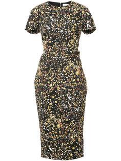 платье с принтом Victoria Beckham