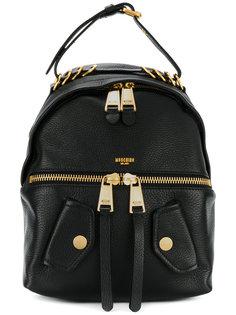 байкерский рюкзак с декоративными кольцами Moschino