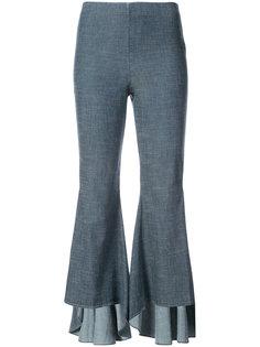 расклешенные брюки с оборками Alice+Olivia