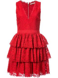 платье с оборками без рукавов Alice+Olivia