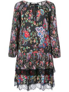 платье с цветочным узором и оборками Alice+Olivia