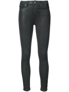 джинсы скинни с вощеным эффектом Paige