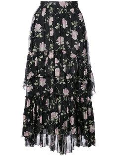 юбка миди с цветочным принтом Ulla Johnson
