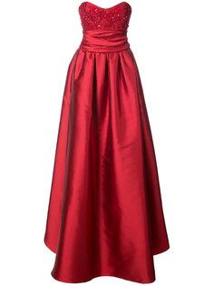вечернее платье с расшитым бисером бюстье Marchesa Notte