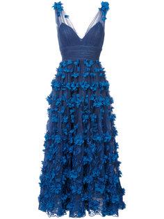 полупрозрачное платье с пышной юбкой Marchesa Notte