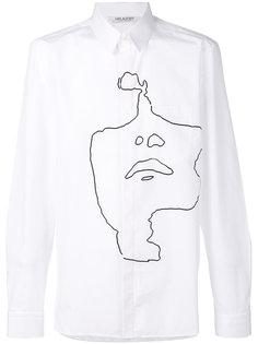 рубашка с абстрактным портретом Neil Barrett