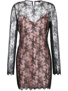 двухслойное мини-платье Alexander Wang