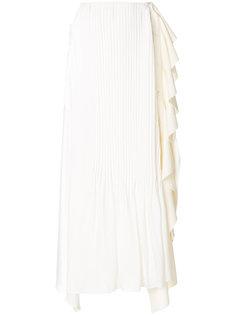 юбка с плиссировкой и оборкой  JW Anderson