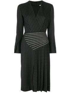 полосатое платье с плиссировкой Marco De Vincenzo