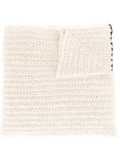 шарф крупной вязки  Nude