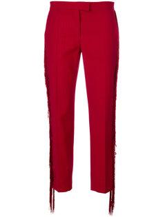 укороченные брюки с бахромой Marco De Vincenzo
