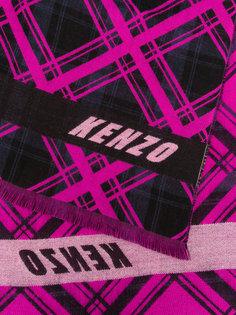 шарф с узором в ромб Kenzo