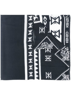 шарф с этническим узором Kenzo
