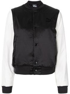 куртка-бомбер с контрастными рукавами Puma
