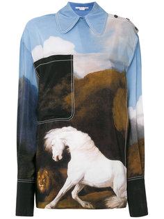 рубашка свободного кроя с рисунком Stella McCartney
