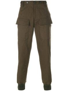 повседневные зауженные брюки Moncler