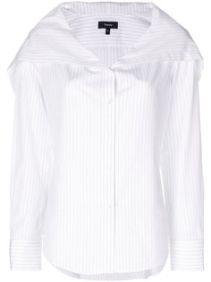 рубашка без воротника в полоску  Theory