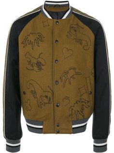 куртка-бомбер на кнопках Lanvin