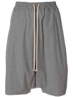 шорты с заниженным шаговым швом Rick Owens DRKSHDW