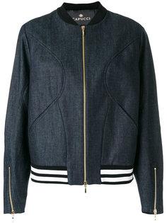 джинсовая куртка-бомбер  Capucci