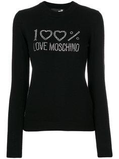 свитер с длинными рукавами и отделкой  Love Moschino