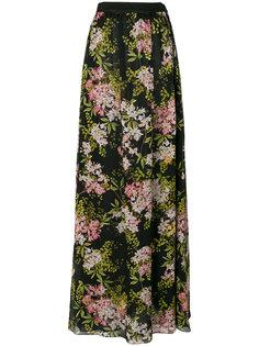 длинная юбка с цветочным принтом Giambattista Valli