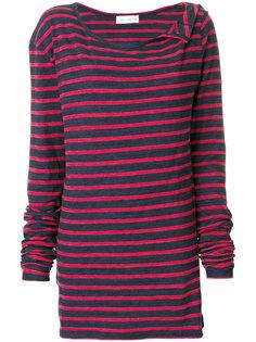 свитер с широким вырезом в полоску Faith Connexion