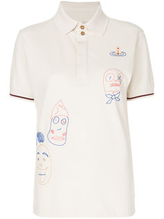 рубашка-поло с вышитыми рисунками Vivienne Westwood Anglomania