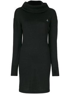 платье-свитер с высоким воротником и логотипом Vivienne Westwood Anglomania