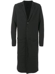удлиненное пальто с лацканами Thom Krom