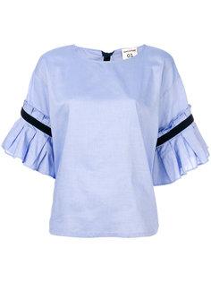 рубашка с плиссированными рукавами Semicouture