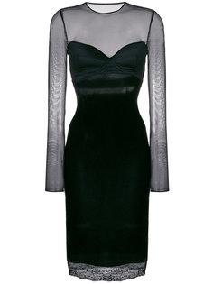 приталенное платье с прозрачными деталями Faith Connexion