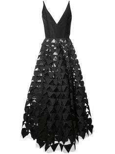 вечернее платье с геометрическим мотивом Oscar de la Renta