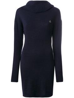 вязаное платье с вышитым логотипом Vivienne Westwood Anglomania