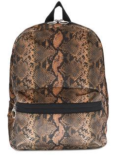 рюкзак с принтом змеиной кожи Mm6 Maison Margiela