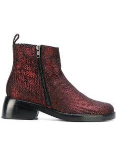 ботинки с двойной молнией Ann Demeulemeester