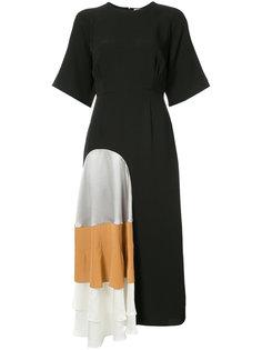 платье миди со вставками Roksanda