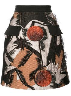 жаккардовая юбка мини Roksanda
