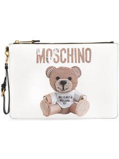 клатч с изображением медвежонка Moschino