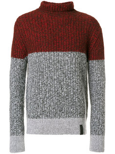 свитер в стиле колор блок Kenzo