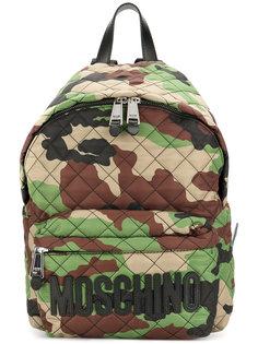рюкзак с камуфляжным узором и логотипом Moschino