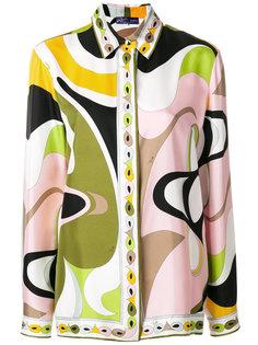 блузка с психоделическим принтом Emilio Pucci