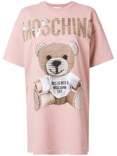 футболка с плюшевым медведем Moschino