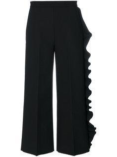 укороченные брюки с оборкой  MSGM