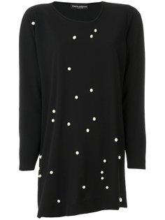 блузка с жемчужной отделкой  Maria Calderara