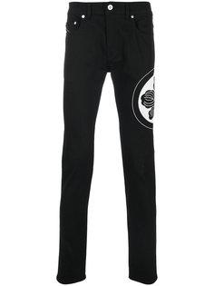 джинсы кроя скинни с вышивкой Diesel Black Gold
