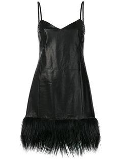 кожаное платье на тонких лямках Drome