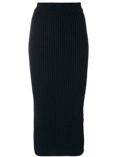 .юбка-миди с ребристой фактурой Kenzo