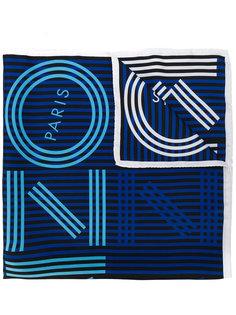 шарф с принтом логотипа Kenzo