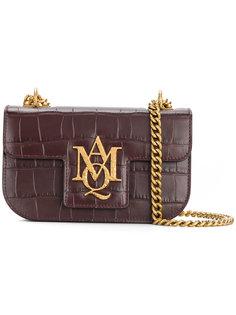 маленькая сумка-сэтчел с монограммой на цепочке Alexander McQueen